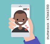 live stream. live translation... | Shutterstock .eps vector #676661500
