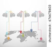 world map infographics template ... | Shutterstock .eps vector #676678603