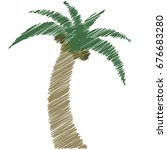 vector illustration a palm and... | Shutterstock .eps vector #676683280