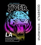 tiger illustration for t shirt... | Shutterstock .eps vector #676684030