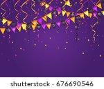 halloween violet background... | Shutterstock .eps vector #676690546
