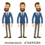 full length portrait of cartoon ... | Shutterstock . vector #676694284