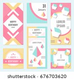 elegant modern flyers and cards ... | Shutterstock . vector #676703620