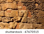 Detail Of Roman Wall In The...