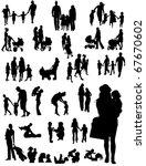 family silhouettes | Shutterstock .eps vector #67670602