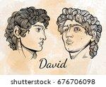 david. the mythological hero of ... | Shutterstock .eps vector #676706098