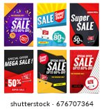 sale banners template collection | Shutterstock .eps vector #676707364