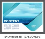 seascape and blue sky...   Shutterstock .eps vector #676709698