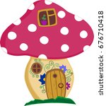 enchanted forest toadstool... | Shutterstock .eps vector #676710418