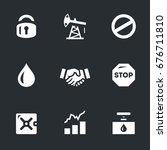 vector set of oil limitation...   Shutterstock .eps vector #676711810