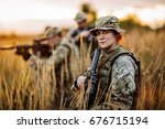 soldier shooting with his...   Shutterstock . vector #676715194