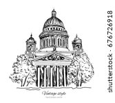 saint isaac's cathedral or... | Shutterstock .eps vector #676726918