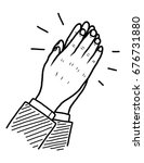 clap   cartoon vector and... | Shutterstock .eps vector #676731880