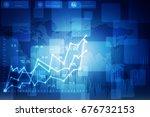 3d rendering stock market... | Shutterstock . vector #676732153