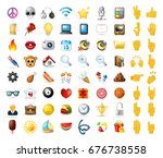 set of realistic cute elegant... | Shutterstock .eps vector #676738558