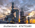 close up industrial zone. plant ... | Shutterstock . vector #676751680