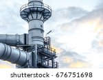 close up industrial zone. plant ... | Shutterstock . vector #676751698