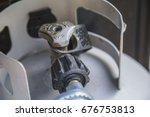 propane tank valve   grill | Shutterstock . vector #676753813