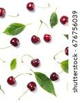 ripe cherry berries and cherry... | Shutterstock . vector #676756039
