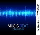 music beat vector. blue lights... | Shutterstock .eps vector #676761019