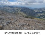 mountain walk to vihren peak.... | Shutterstock . vector #676763494