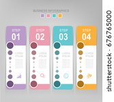 infographic template of four... | Shutterstock .eps vector #676765000