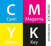 simple vector cmyk color sample