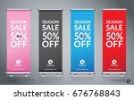 roll up brochure flyer banner... | Shutterstock .eps vector #676768843