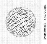 abstract binary ball  vector... | Shutterstock .eps vector #676770388