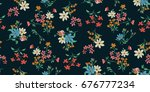 Stock vector seamless floral pattern in vector 676777234
