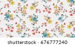 seamless floral pattern in... | Shutterstock .eps vector #676777240