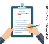 editing documents to correct... | Shutterstock .eps vector #676786588