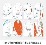 hand drawn creative tags.... | Shutterstock .eps vector #676786888