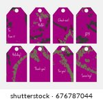 hand drawn creative tags.... | Shutterstock .eps vector #676787044