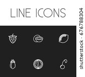 set of 6 editable cooking icons....