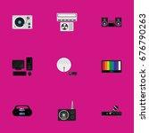 set of 9 editable technology...