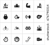 set of 16 editable exercise...