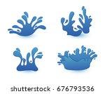 vector water splashes.set of...   Shutterstock .eps vector #676793536