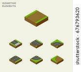 isometric road set of downward  ...   Shutterstock .eps vector #676793620