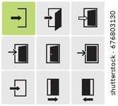 doors icons | Shutterstock .eps vector #676803130
