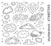 cloud hand drawn clouds icons...   Shutterstock .eps vector #676807543
