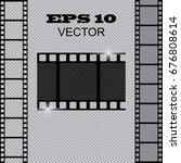 set of vector film strip... | Shutterstock .eps vector #676808614