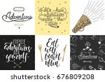 set of adventure and travel... | Shutterstock .eps vector #676809208