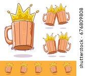 beer mug  beer icon oktoberfest ... | Shutterstock .eps vector #676809808