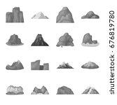 rock  peak  volcano  and other... | Shutterstock . vector #676819780