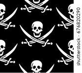 skull and crossed swords... | Shutterstock .eps vector #676820290