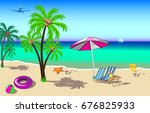 summer holidays background.... | Shutterstock .eps vector #676825933