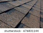 close up view on asphalt... | Shutterstock . vector #676831144