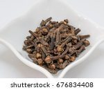 drying clove spice  syzygium... | Shutterstock . vector #676834408