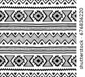 seamless ethnic and tribal... | Shutterstock .eps vector #676836220